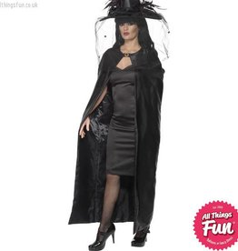 Smiffys Deluxe Black Witch Cape