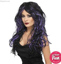 Smiffys Gothic Purple Bride Wig
