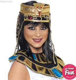 Smiffys Gold Egyptian Headpiece with Snake Design