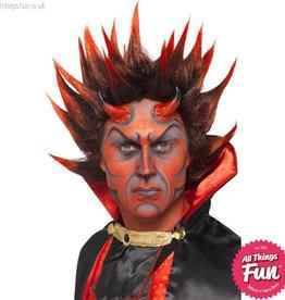 Smiffys Red & Black Devil Punky Wig