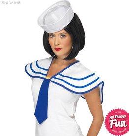 Smiffys White Sailor Neck Tie