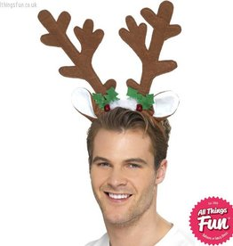 Smiffys Reindeer Antlers on a Headband