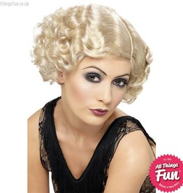 Smiffys 20's Blonde Flirty Flapper Wig