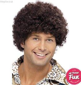 Smiffys 70's Brown Disco Dude Wig