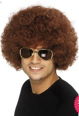 Smiffys 70's Brown Funky Afro Wig