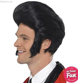 Smiffys 50's Black Quiff King Wig