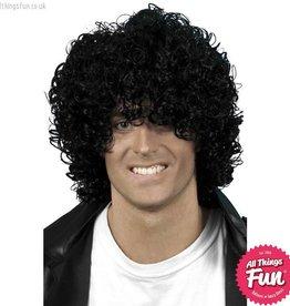 Smiffys Black Afro Wet Look Wig