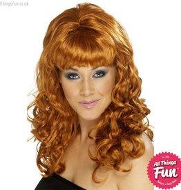 Smiffys Auburn Beehive Beauty Wig