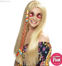 Smiffys Blonde Hippy Party Wig