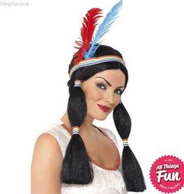 Smiffys Indian Princess Wig