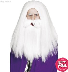 Smiffys Magician Set with White Wig & Beard