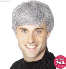 Smiffys Grey Corporate Wig