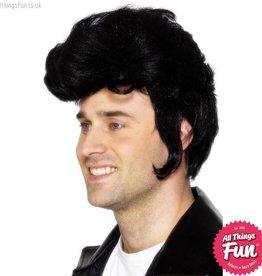 Smiffys Black Rockstar Wig