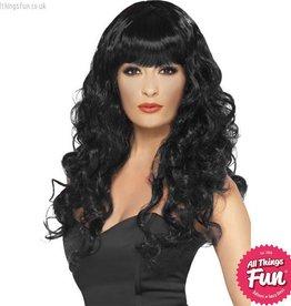 Smiffys Black Siren Wig