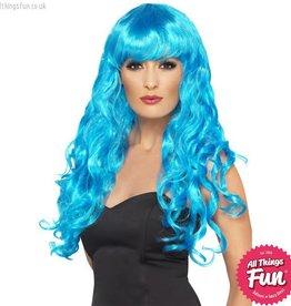 Smiffys Blue Siren Wig