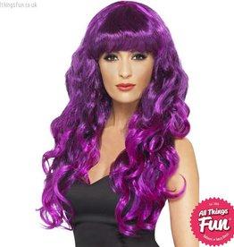 Smiffys Purple Siren Wig