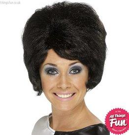 Smiffys Black 60's Beehive Wig