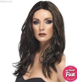 Smiffys Dark Brown Superstar Wig