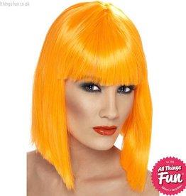 Smiffys Neon Orange Glam Wig