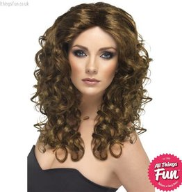Smiffys Brown Glamour Wig