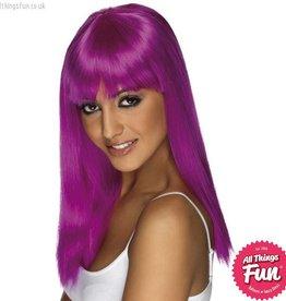 Smiffys Neon Purple Glamourama Wig