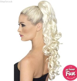 Smiffys *DISC* Blonde Curly Divinity Hair Extension