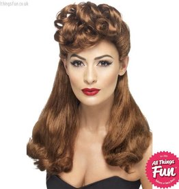 Smiffys 40's Auburn Vintage Wig