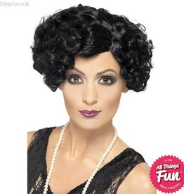 Smiffys 20's Black Flirty Flapper Wig