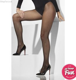 Smiffys Black XL Fishnet Tights