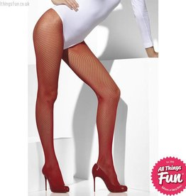 Smiffys Red Fishnet Tights