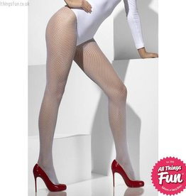 Smiffys White Fishnet Tights