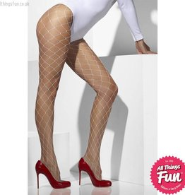 Smiffys White Diamond Net Tights