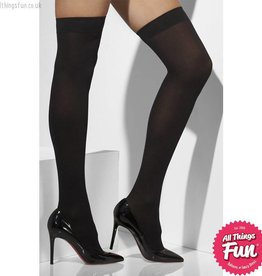 Smiffys Black Opaque Hold Ups