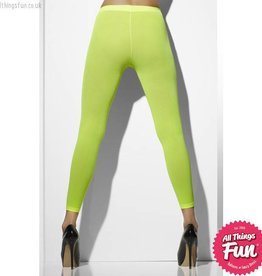 Smiffys Neon Green Opaque Footless Tights