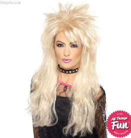 Smiffys 80's Long Blonde Mullet Wig
