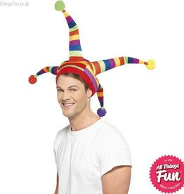 Smiffys *DISC* Multi Coloured Jester Hat