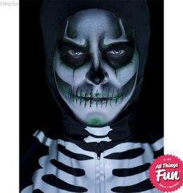 Smiffys Glow in the Dark Skeleton Make Up Kit with Paints, Cream, Crayon & Sponge