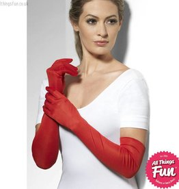 Smiffys Long Red Gloves