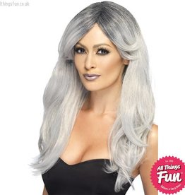 Smiffys Ghostly Grey Glamour Wig