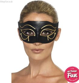 Smiffys Egyptian Black & Gold Eye of Horus Eyemask