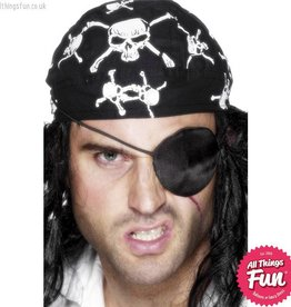 Smiffys Deluxe Black Satin  Pirate Eyepatch