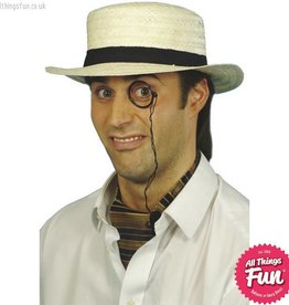 Smiffys Straw Boater Hat