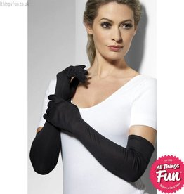 Smiffys Long Black Gloves