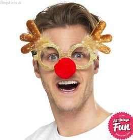 Smiffys Reindeer Comedy Glasses