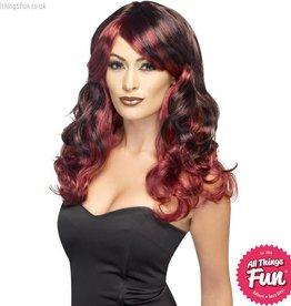 Smiffys Ombre Red & Black Devilish Wig