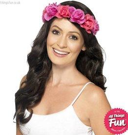 Smiffys Pink Floral Headband