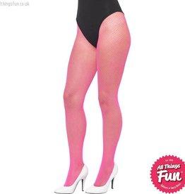 Smiffys Neon Pink Fishnet Tights