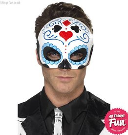 Smiffys Day of the Dead Blue Eyemask