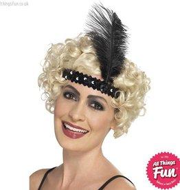 Smiffys Flapper Black Headband