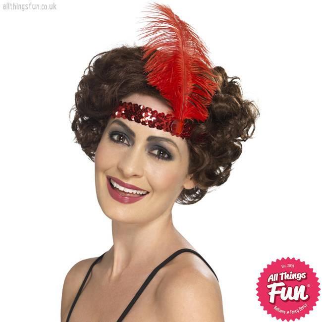 Smiffys Flapper Red Headband